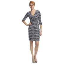 Laundry by Design Matte Jersey Garden Gate Dress - 3/4 Sleeve (For Women) in Inkblot Multi - Closeouts