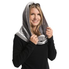 Laundry by Design Mixed Stitch Marled Snood (For Women) in Gray/Shiny White Platine - Closeouts