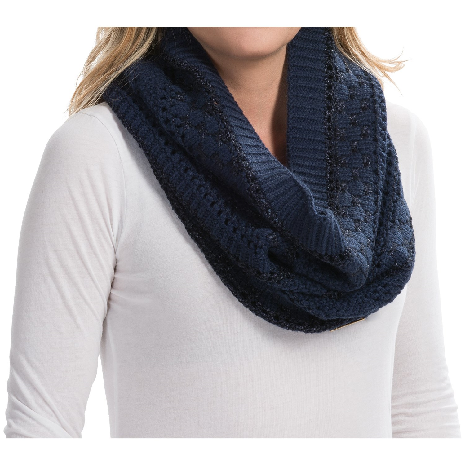 Laundry By Design Mixed Stitch Marled Snood For Women