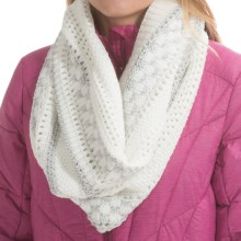 Laundry by Design Mixed Stitch Marled Snood (For Women) in White/Shiny Silver Platine - Closeouts