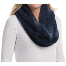 Laundry by Design Mixed Stitch Marled Snood Scarf (For Women) in Midnight/Shiny Tonal Platine - Closeouts