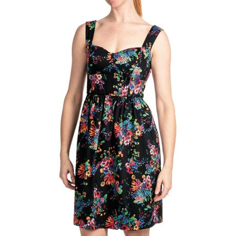 Laundry by Design Parisian Petals Dress - Cotton Sateen, Sleeveless (For Women) in Black Multi