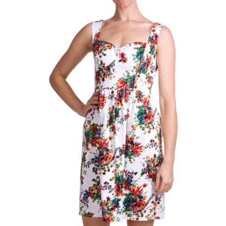 Laundry by Design Parisian Petals Dress - Cotton Sateen, Sleeveless (For Women) in White Multi