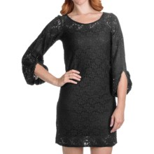 Laundry by Design Passion Flower Lace Dress - Long Sleeve (For Women) in Black - Closeouts