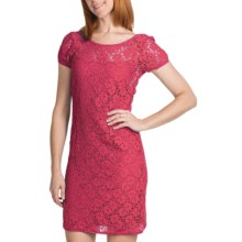 Laundry by Design Passion Flower Lace Dress - Low Back, Short Sleeve (For Women) in Candy - Closeouts