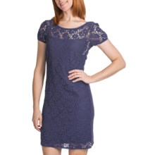 Laundry by Design Passion Flower Lace Dress - Low Back, Short Sleeve (For Women) in Inkblot - Closeouts