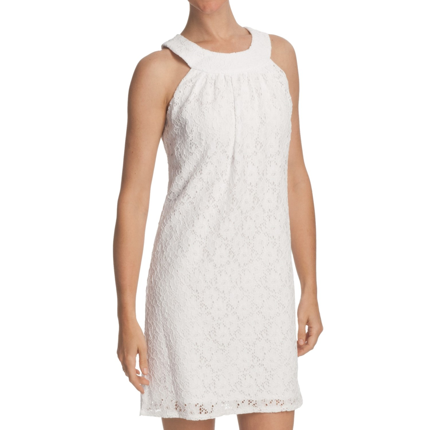 Laundry By Design Passion Flower Lace Dress Sleeveless