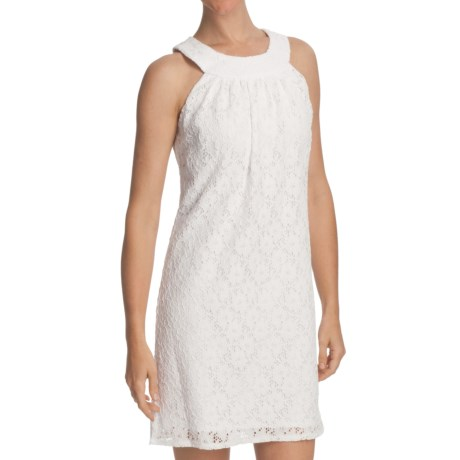 Laundry by Design Passion Flower Lace Dress - Sleeveless (For Women) in Optic White