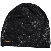 Laundry by Design Reptile Jacquard Slouchy Beanie (For Women) in Black/Tonal Foil - Closeouts