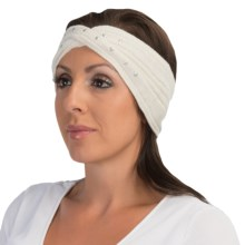 Laundry by Design Ribbed Headband - Metal Embellishments (For Women) in White/Silver Studs - Closeouts