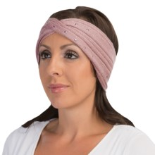 Laundry by Design Ribbed Headband - Metal Embellishments (For Women) in Winter Rose/Rose Gold Studs - Closeouts