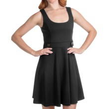 Laundry by Design Ritz Ponte Tank Dress - Fit and Flare (For Women) in Black - Closeouts