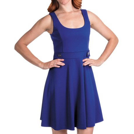 Laundry by Design Ritz Ponte Tank Dress - Fit and Flare (For Women) in Twilight Blue