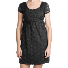Laundry by Design Sand Dollar Lace Dress - Short Sleeve (For Women) in Black - Closeouts