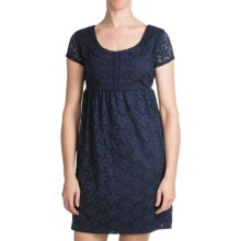 Laundry by Design Sand Dollar Lace Dress - Short Sleeve (For Women) in Inkblot - Closeouts