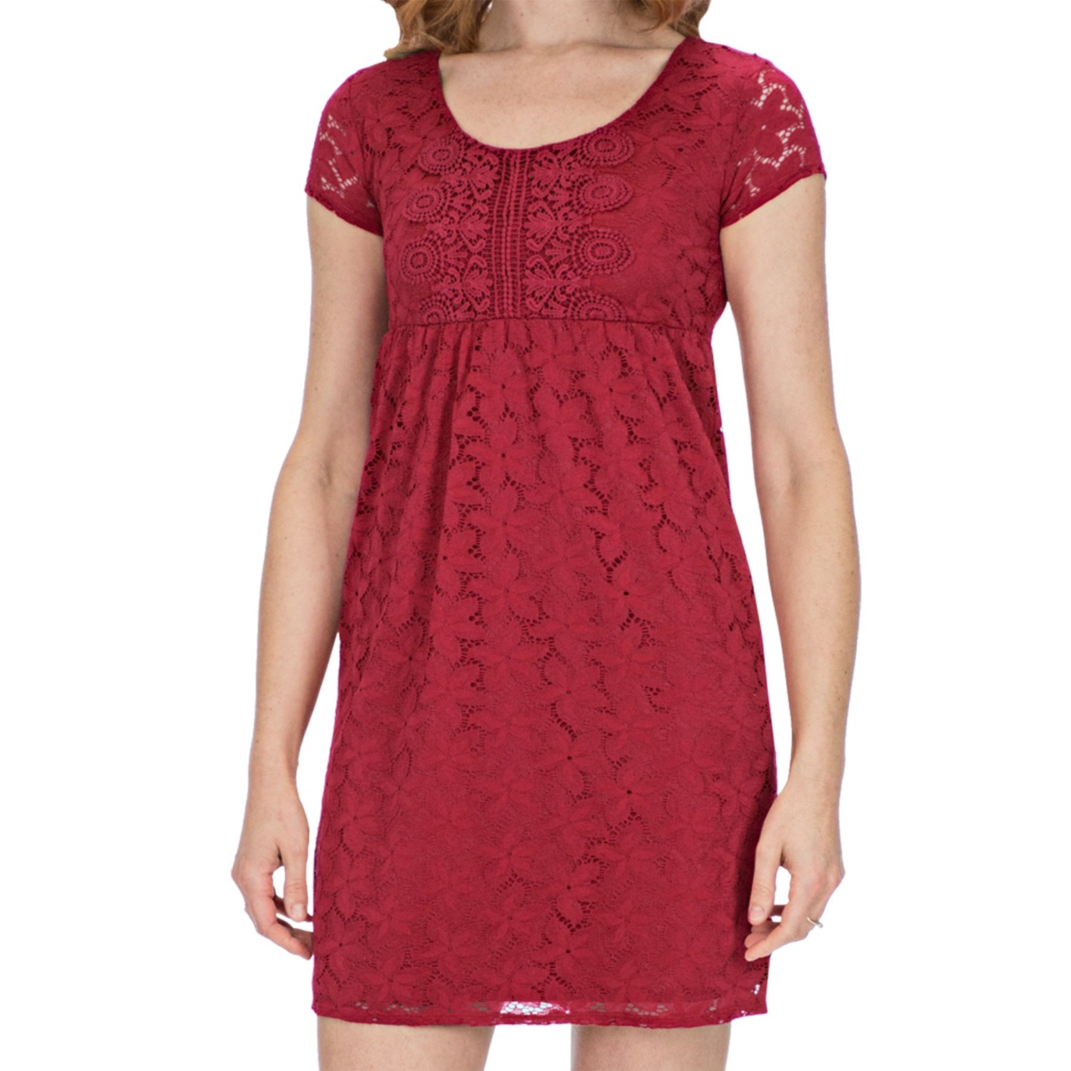 Laundry By Design Sand Dollar Lace Dress Short Sleeve