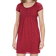 Laundry by Design Sand Dollar Lace Dress - Short Sleeve (For Women) in Melon - Closeouts