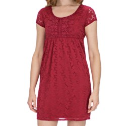 Laundry by Design Sand Dollar Lace Dress - Short Sleeve (For Women) in Black