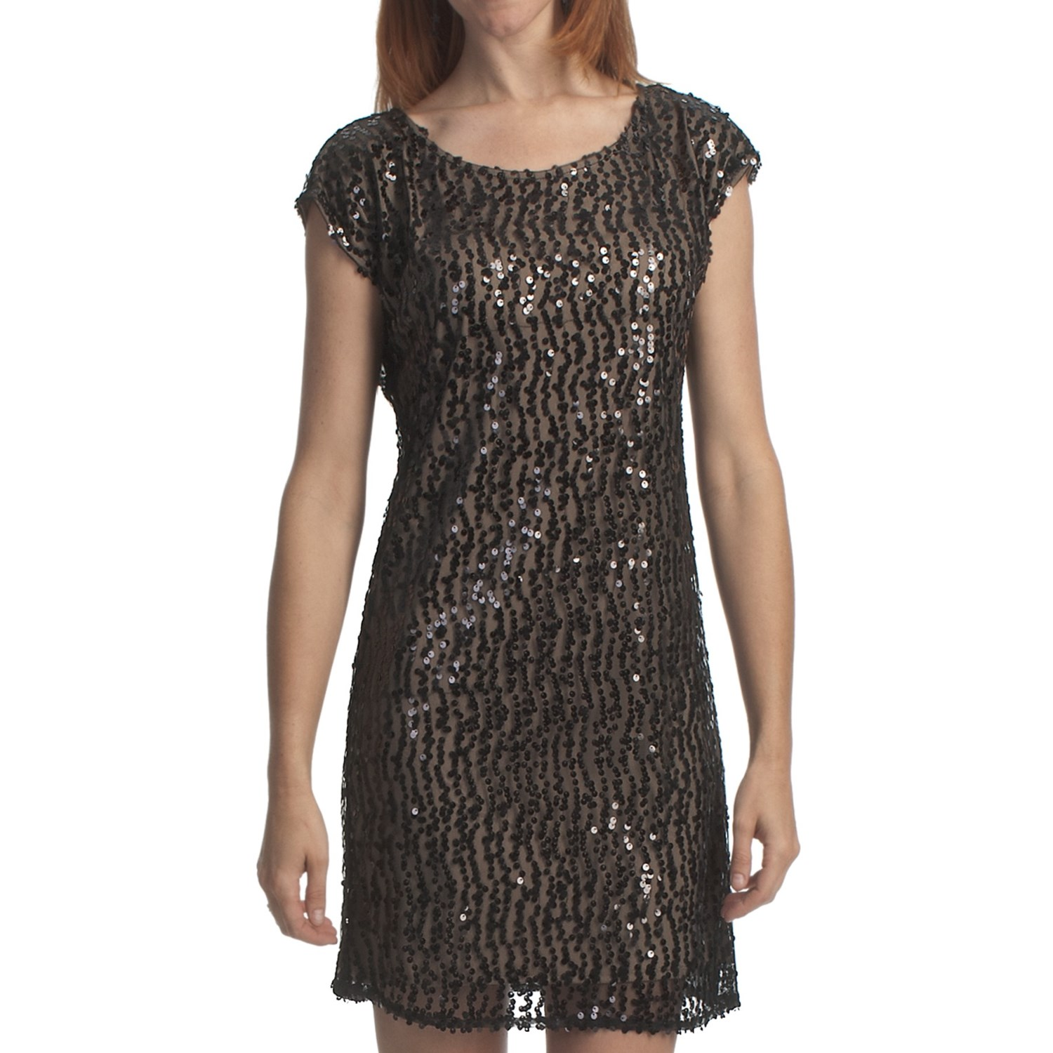 Laundry By Design Sequined T Body Dress Sleeveless For
