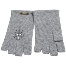 Laundry by Design Shorty Driver Gloves - Jewel Embellishments (For Women) in Gray - Closeouts