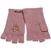 Laundry by Design Shorty Driver Gloves - Jewel Embellishments (For Women) in Rose - Closeouts