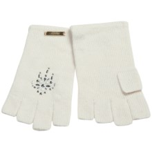 Laundry by Design Shorty Driver Gloves - Jewel Embellishments (For Women) in White - Closeouts