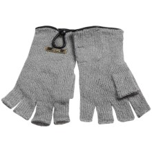Laundry by Design Shorty Driver Gloves - Leather Trim and Button (For Women) in Grey/Black Leather - Closeouts