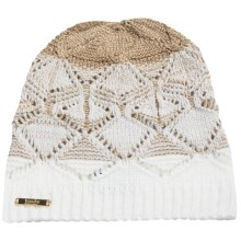 Laundry by Design Slouchy Pointelle Ombre Beanie (For Women) in White/Gold Ombre - Closeouts