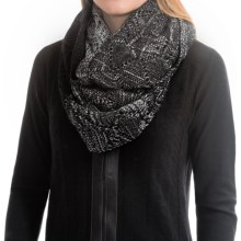 Laundry by Design Slouchy Pointelle Ombre Infinity Scarf (For Women) in Black/Silver Ombre - Closeouts