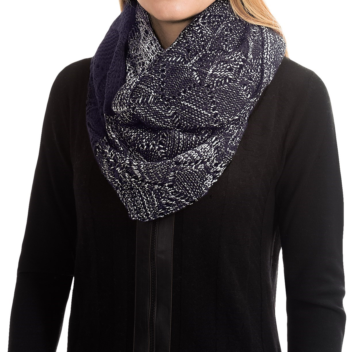 Laundry By Design Slouchy Pointelle Ombre Infinity Scarf