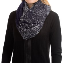 Laundry by Design Slouchy Pointelle Ombre Infinity Scarf (For Women) in Midnight/Silver Ombre - Closeouts