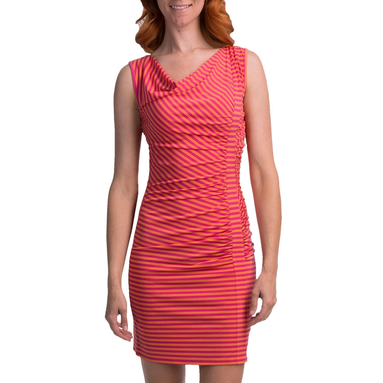 Laundry By Design Striped Matte Jersey Dress Stretch