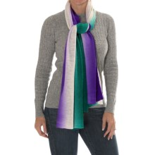 Laundry by Design Wool Dip-Dye Scarf (For Women) in Parasailing/Butterfly - Closeouts