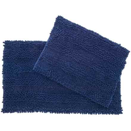 Laura Ashley Astor Chenille Bath Rug Set - 2-Piece, Indigo in Indigo - Closeouts