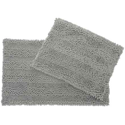 Laura Ashley Astor Chenille Bath Rug Set - 2-Piece, Light Grey in Light Grey - Closeouts