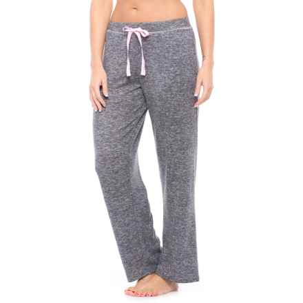 Laura Ashley Brushed Hacci Pajama Pants (For Women) in Charcoal Grey - Closeouts