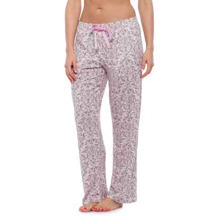 Laura Ashley Brushed Hacci Pajama Pants (For Women) in Pink Damask - Closeouts