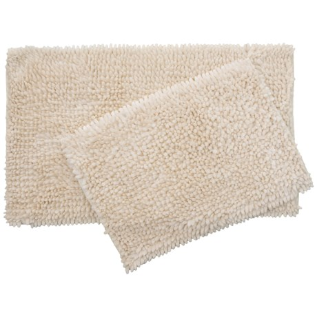 Laura Ashley Butter Chenille Bath Mat Set - 2-Piece, Ivory in Ivory