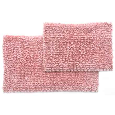 Laura Ashley Butter Chenille Bath Mat Set - 2-Piece, Pink Mist in Pink Mist - Closeouts