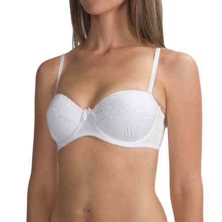 Laura Ashley Convertible Demi Bra - Underwire, Molded Cups (For Women) in White - Closeouts
