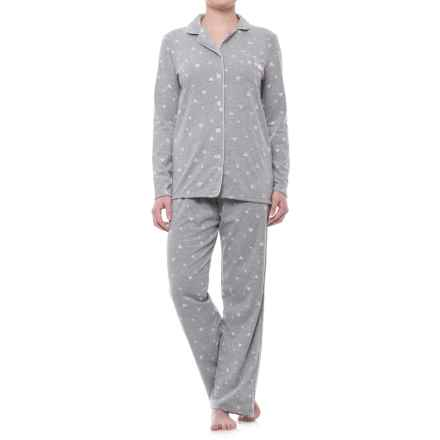 Laura Ashley Printed Pajamas - Long Sleeve (For Women) in Heather Hearts - Closeouts