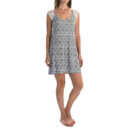 Laura Ashley Rayon Chemise - Sleeveless (For Women) in Grey Boardwalk - Closeouts