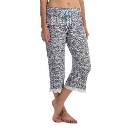 Laura Ashley Rayon Pajama Capris (For Women) in Grey Boardwalk - Closeouts