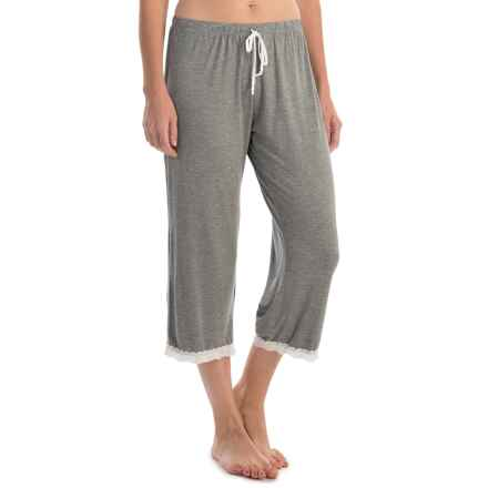 Laura Ashley Rayon Pajama Capris (For Women) in Mid Heather Grey - Closeouts