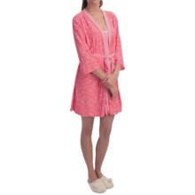 Laura Ashley Robe and Chemise Travel Set (For Women) in Fuji G Paisley - Closeouts