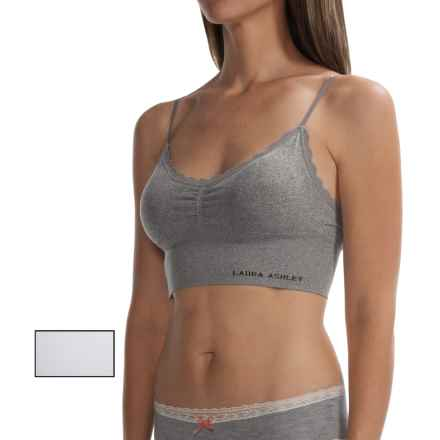 Laura Ashley Seamless Bra - 2-Pack, Removable Cups (For Women) in Light Heather Grey/White - Closeouts