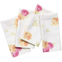 Laura Ashley Stain-Resistant Napkins - Set of 4, Microfiber in Ellie Patchwork - Closeouts