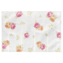 Laura Ashley Stain-Resistant Placemat - Microfiber in Ellie Patchwork - Closeouts