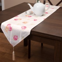 "Laura Ashley Stain-Resistant Table Runner - 72"", Microfiber in Ellie Patchwork - Closeouts"