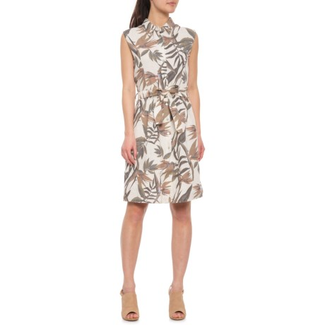 3781eb3bc1 Laura Bianchi Made in Italy Printed Linen Shirt Dress - Sleeveless (For  Women) in